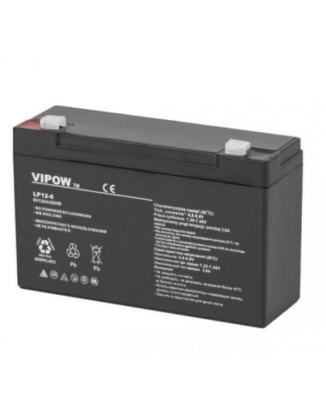 Akumulator żelowy VIPOW 6V 12Ah