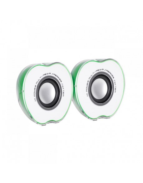 Głośniki komputerowe Quer Comfort 2.0 zielone