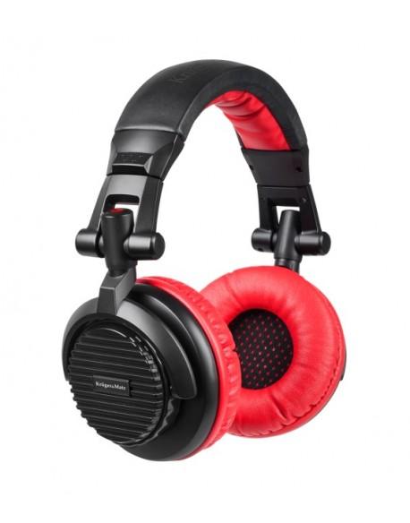 Słuchawki przewodowe nauszne dla DJ-ów Kruger&Matz model DJ-200