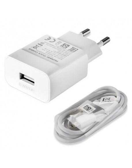Huawei szybka ładowarka sieciowa 9V/5V 2 kolor biały + kabel