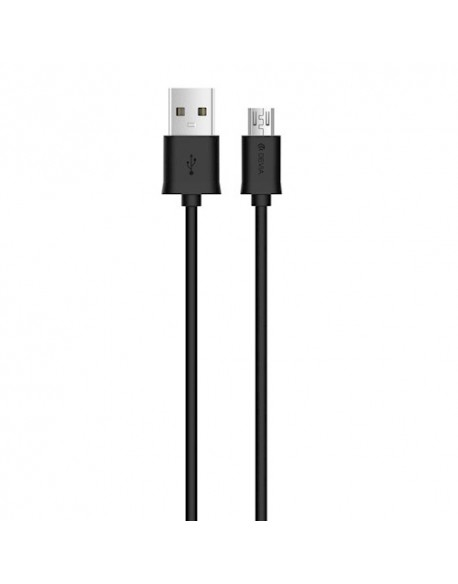 Kabel DEVIA Smart Micro USB czarny 1m