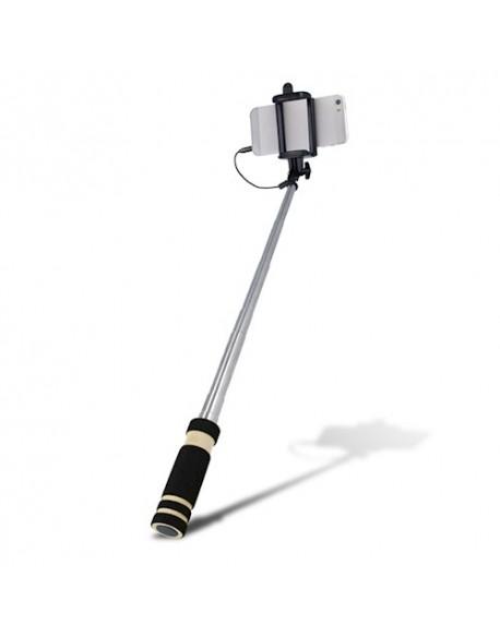 Selfie stick Setty audio jack czarny