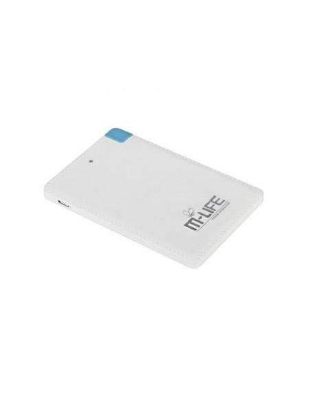 Powerbank M-Life Power Bank 2600mAh z kablem microUSB