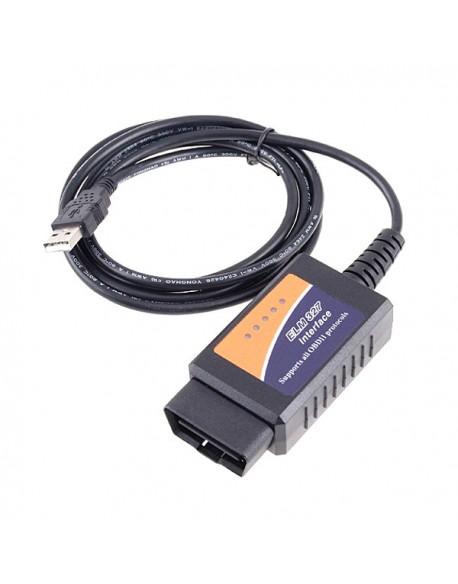 Interfejs diagnostyczny kabel OBD II ELM 327 USB