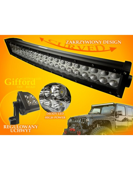 Listwa LED Gifford 120W CW Off Road Curved