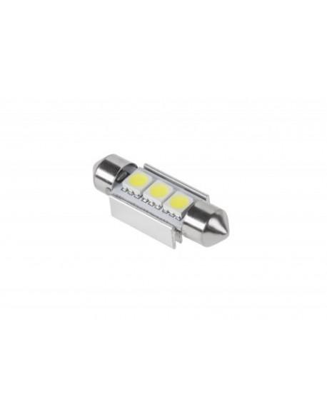 Żarówka samochodowa LED (Canbus) SV8,5 11x36mm 3x5050 SMD, biała