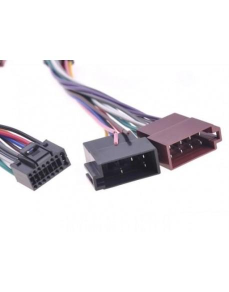Złącze do JVC KD-LX 3 czarna 16pin-ISO-KJ3
