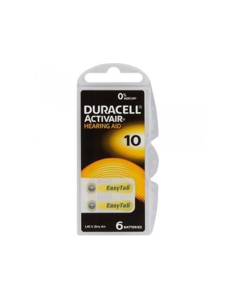6 x baterie do aparatów słuchowych Duracell ActivAir 10 MF
