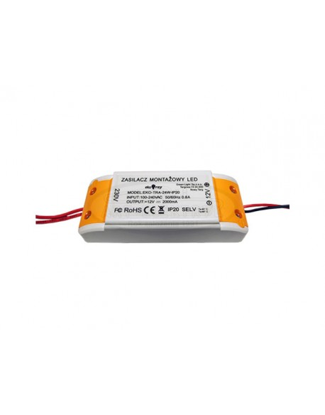 Zasilacz LED 3A 36W 12V/230V EKO-TRA-36W-IP20 EkoRay