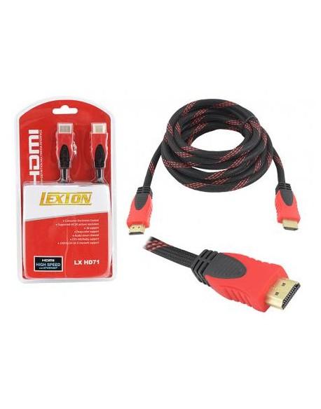 Kabel HDMI - HDMI wersja 1.4V, 3m, czerwony.