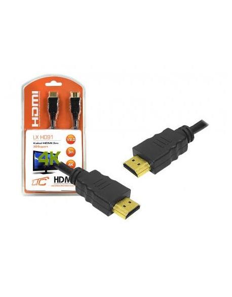 Kabel HDMI-HDMI v2.0, 3m, 4K.