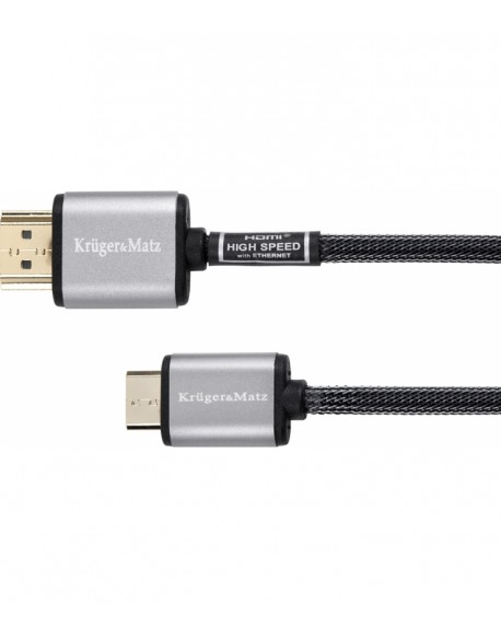 Kabel HDMI - mini HDMI wtyk-wtyk (A-C) 1.8m Kruger&Matz