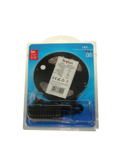 Zestaw Taśma LED 3528 biały zimny 5m/300diod IP65