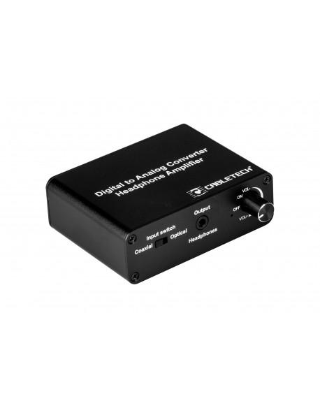 Złącze konwerter sygnału cyfrowego na analogowy z gniazdem słuchawkowym