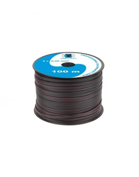 Kabel głośnikowy CCA 0.20mm czarny