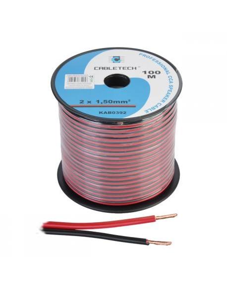 Kabel głośnikowy CCA 1.5mm czarno-czerwony