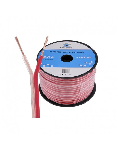 Kabel głośnikowy CCA 1.0mm Cabletech extra flexible