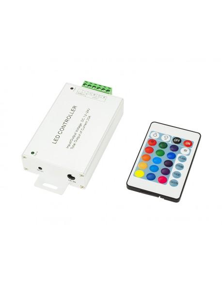 Sterownik taśm LED RGB 24-KEY pil.IR 30A