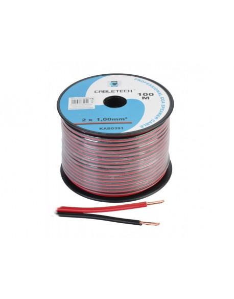Kabel głośnikowy CCA 1.0mm czarno-czerwony