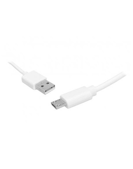 Kabel microUSB 2m, biały, Quick Charge.