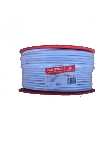 Kabel RG6 Spacetronik HOKA 4K 102 CU Dualshield