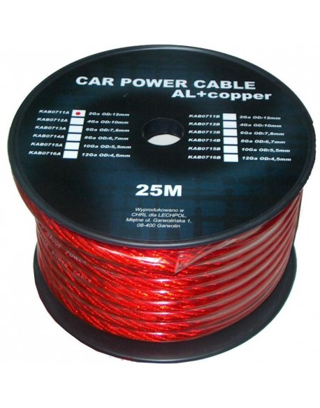 Kabel samochodowy 2Ga OD12mm CU+AL