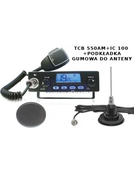 Gotowy zestaw: TCB TTI 550Am wraz z IC 100 oraz podkładką gumową do anteny