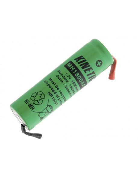 Akumulator R6 Ni-MH AA 1800mAh lutowania