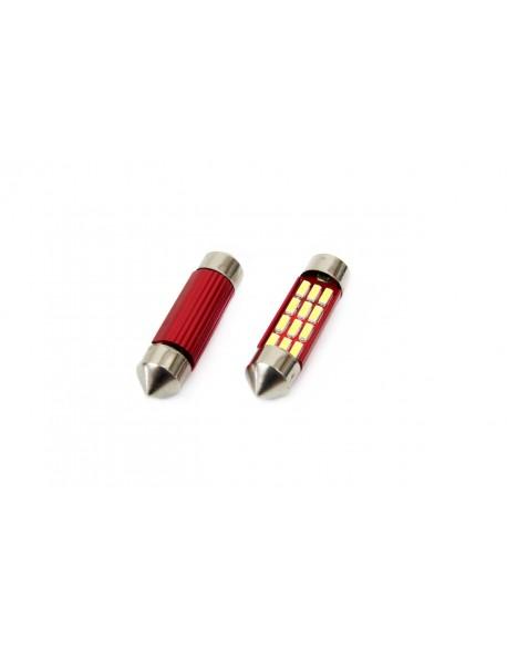 LED CANBUS 12SMD 4014 Festoon 39mm White 12V/24V