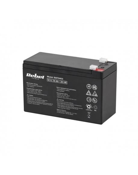 Akumulator żelowy Rebel 12V 7,5Ah