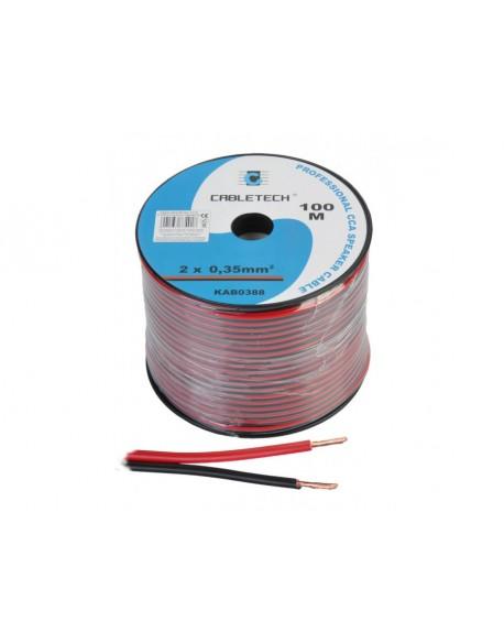 Kabel głośnikowy CCA 0.35mm czarno-czerwony