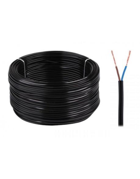 Kabel elektryczny OMYp 2x0,75 300/300V czarny