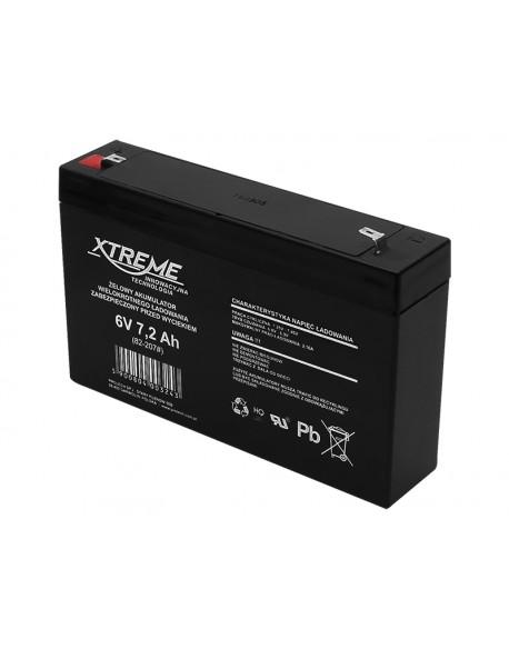 Akumulator żelowy 6V 7.2Ah XTREME