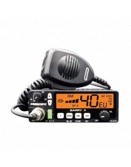 RADIO CB PRESIDENT BARRY II ASC 12/24V 7kolor VOX