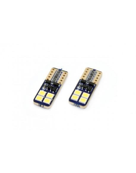 LED CANBUS 8SMD 2835 T10e (W5W) White 12V/24V