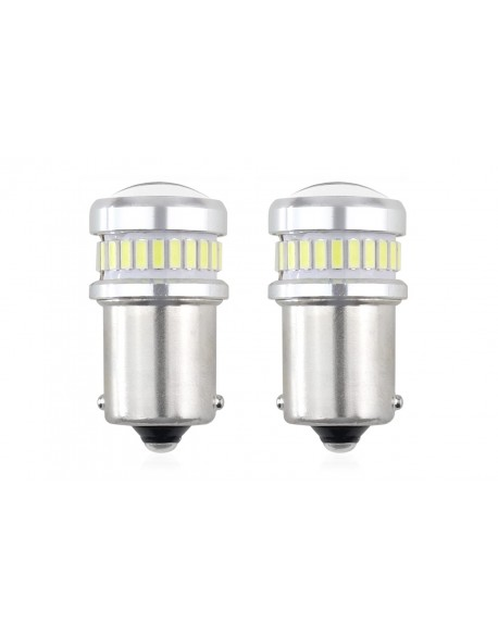 LED CANBUS 3014 24SMD + 3030 6SMD 1156 (R5W, R10W) P21 White 12V/24V