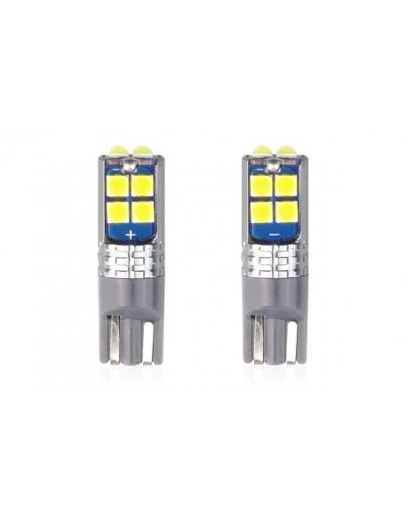 LED CANBUS 10SMD 3030 T10 W5W White 12V/24V