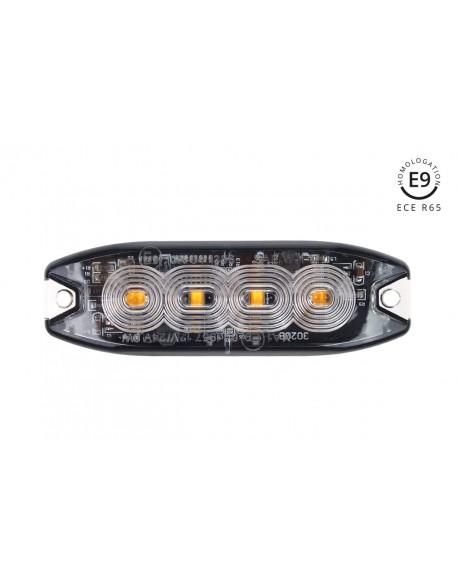 Lampa błyskowa płaska 4x3W LED R65 R10 12/24V IP68