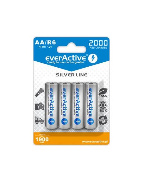 Akumulatorki everActive Ni-MH R6 AA 2000 mAh Silver