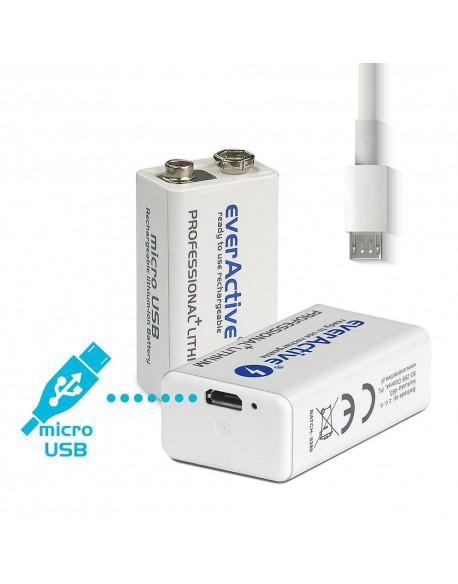 Akumulatorek everActive 6F22/9V Li-ion 550 mAh