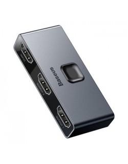 Dwukierunkowy rozdzielacz / splitter HDMI 4K Baseus Matrix CAHUB-BC0G
