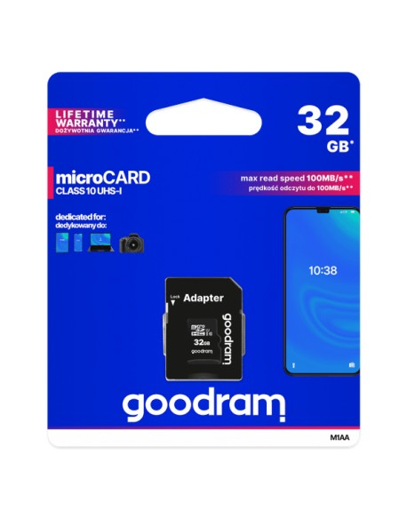 Karta pamięci microSD 32GB UHS-I Goodram z adapterem