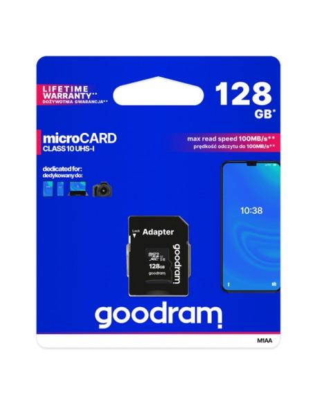 Karta pamięci microSD 128GB UHS-I Goodram z adapterem