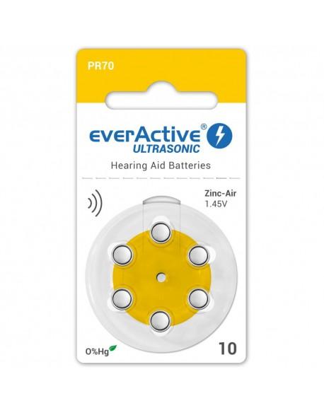 6 x baterie do aparatów słuchowych everActive ULTRASONIC 10