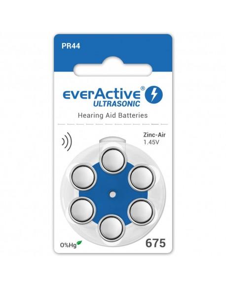 6 x baterie do aparatów słuchowych everActive ULTRASONIC 675