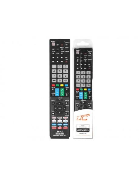 Pilot uniwersalny do TV LCD/LED SHARP SH-915E Smart TV, Netflix, Youtube, Amazon, 3D.